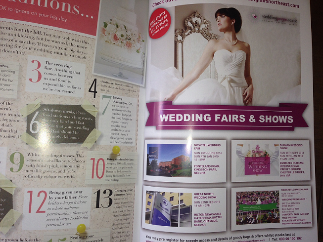 Your North East Wedding Inside Back Cover May-June