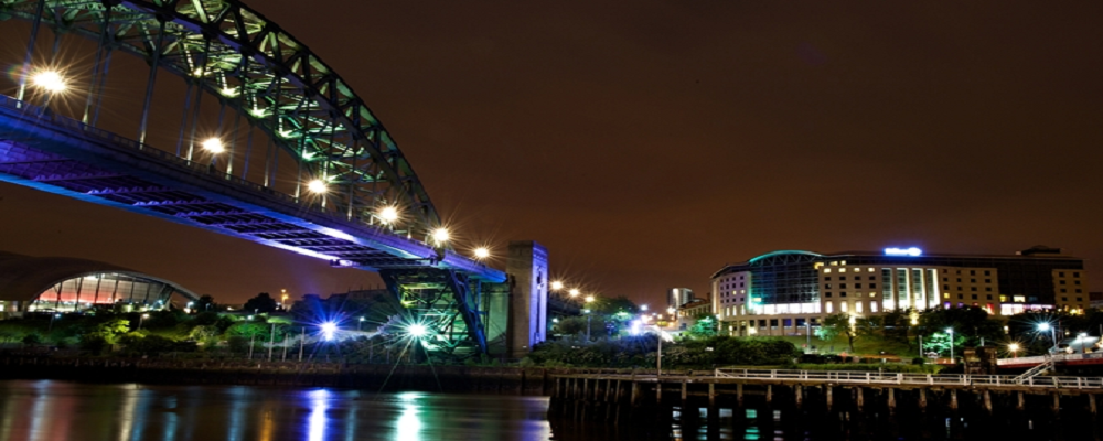 Hilton Newcastle Gateshead -Evening 1000 x 400