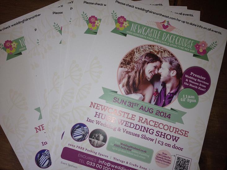 Leaflets 31-8-14 Newcastle Racecourse Wedding Show