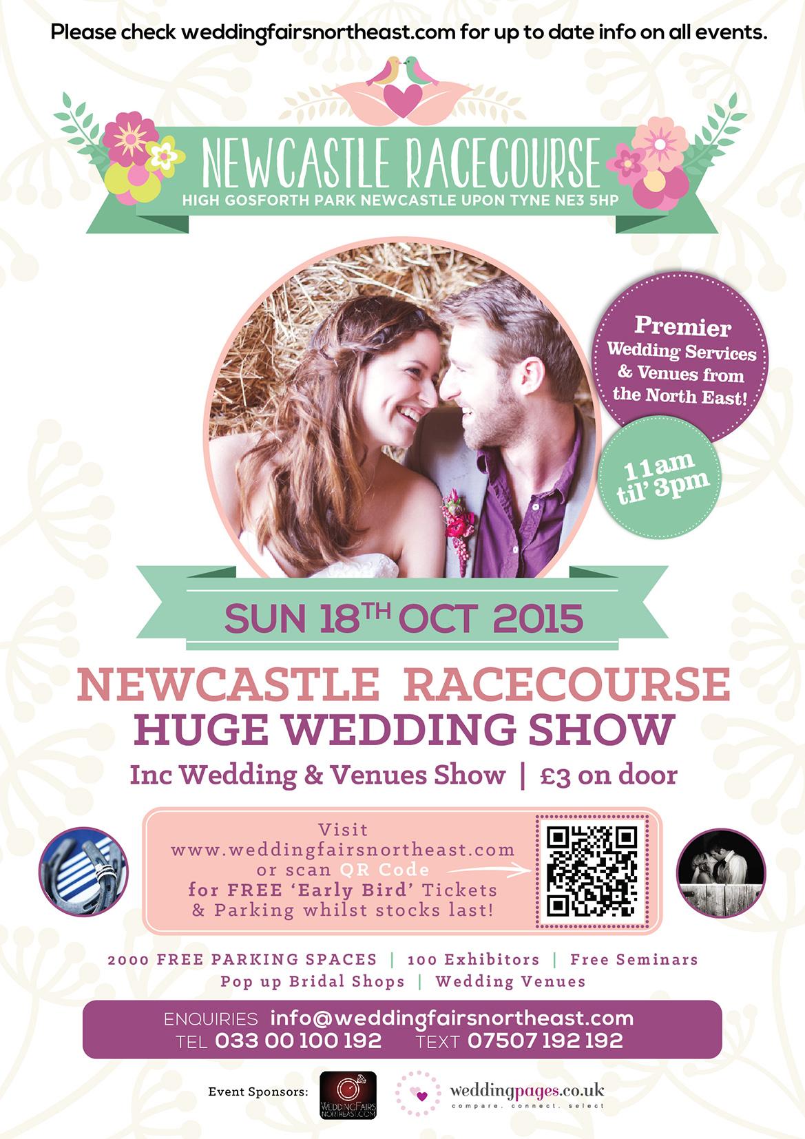 Newcastle Racecourse Wedding Show Sun 18th Oct 2015